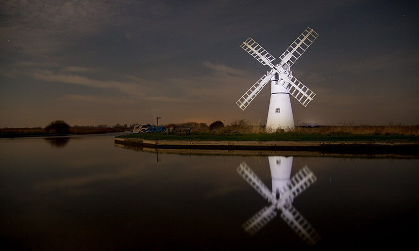 HIGHLY COMMENDED – A Still Night at the Wind Pump by Mark Eves